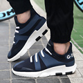New Fashion Men Casual Y3 Shoes Breathable Korean High Top Shoes for Male Platform Height Increased