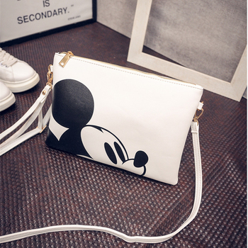 2016 Spring Handbag Envelope Clutch Bags Mickey Cartoon Printed Shoulder Bag Messenger Bag Tide