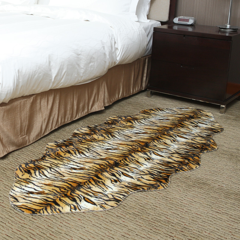 tigre vache z bre faux fourrure de chambre tapis tapis de salon maison d co tapis de sol 75 x. Black Bedroom Furniture Sets. Home Design Ideas