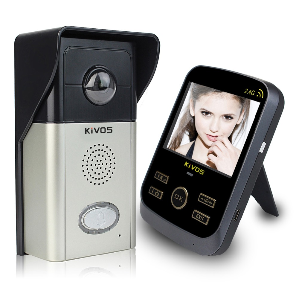 3.5 inch Wireless Video Intercom Monitor Video Door Phone Waterproof and Tamper Alarm Adjustable Camera Doorbell F1703A(China (Mainland))
