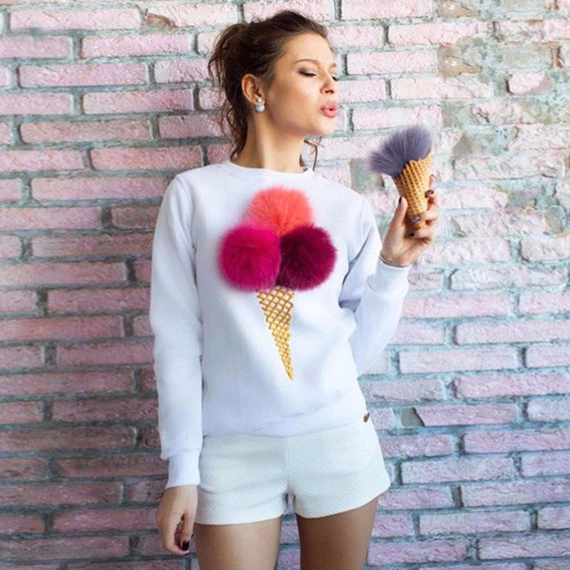 KAYWIDE 2016 Women Winter Sweatshirt Series Autumn Colorful Plush Ball Long sleeve Tracksuit Ladies Truien Dames Hoodies A16404(China (Mainland))