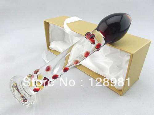 Wholesale stand up Glass dildo drop shipping     GFG-S2220<br><br>Aliexpress