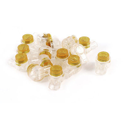 15 Pieces Gel Splice Joints UY Connector 2 Port Wire Coupler Orange Clear<br><br>Aliexpress