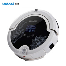 Robot Vacuum Cleaner with Remote Control,Intelligent Anti Fall Vacuum Cleaner LCD Screen, Seebest C571, Russia Warehouse(China (Mainland))