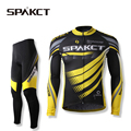 SPAKCT Bicycle Outdoor Sports Cycling Men s Long Sleeve Pants Sets Breathable Professional Bicycle Sportswear Black