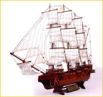 80cm 112 Large wooden sailboat  victory  Wooden model ship home decoration Free shipping