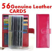 Buy 1pcs Men/Women Genuine Leather Credit Card Holder/Case 58 Cards Wallet Business Bank Card Package Genuine Leather Case Holders for $24.93 in AliExpress store
