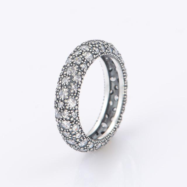 925-Sterling-Silve CZ камни кольца европейский марка кольцо для женщин DIY мода аксессуары и украшения 925 кольцо оптовая продажа