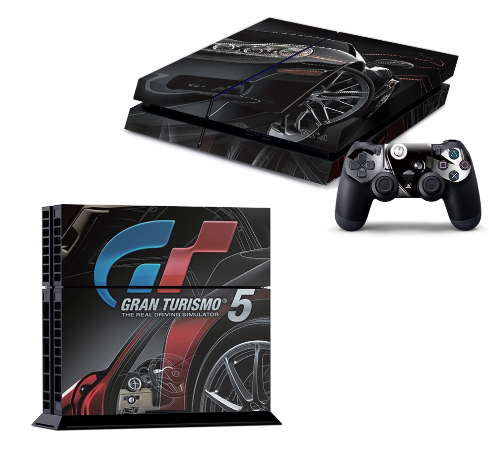 Gran Turismo 5 GT5 Game Vinyl Sticker Decor Skin For Playstation 4 Decal Skin for PS4 Console PS 4 & 2 Controller Skins(China (Mainland))