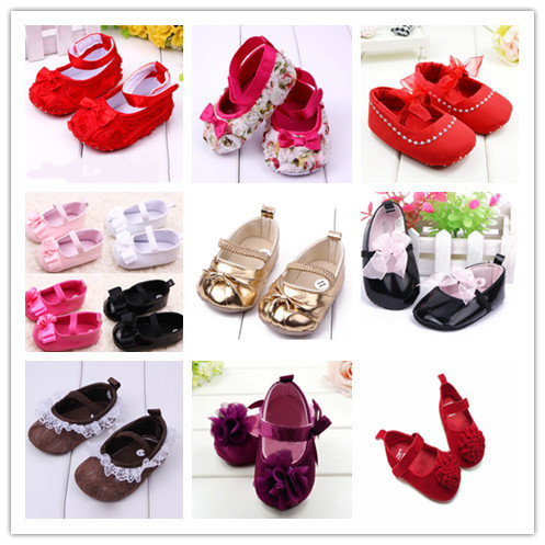 Infant Baby Girl Flower Bowknot Shoes Kid Child Cotton Prewalking Toddler Shoes YRD
