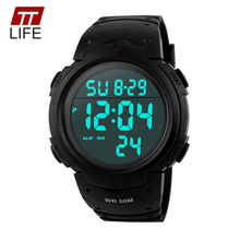 TTLIFE Branded Mens Watches Sports Dive 50m Digital LED Military Watch Men Fashion Casual Electronics Wrist Watches Clock Luxury(China (Mainland))