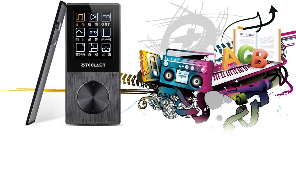 Original Smart Mini Teclast X30SE 4GB MP3 Music Player With FM Radio Voice(China (Mainland))