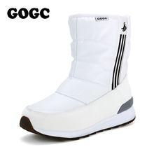 GOGC Schnee Stiefel Winter Stiefel weiß ankle boot Frauen mit Pelz Plüsch Winter Schuhe Frauen Warme Wasserdichte Stiefel für Frauen g9844(China)