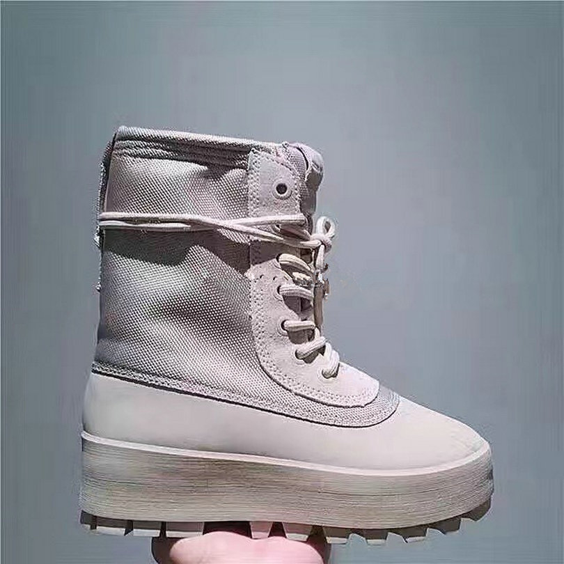 Luxury Brand Women Boots Fashion Nylon+ Genuine Leather Lace-up Military Boots Top Quality Leather Winter Boots Size 34-40 L230(China (Mainland))