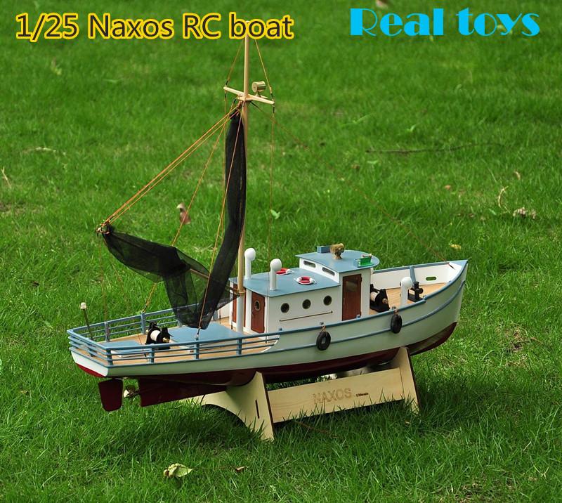 Classic fishing boat model scale 1 25 naxos rc fishing for Fishing rc boat
