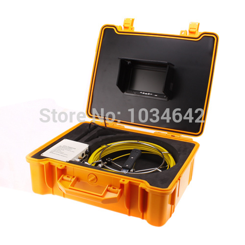 """Pipe Sewer Inspection System 30M Underwater Snake Camera Video Pipe Pipeline Drain Inspection Camera System 7""""LCD DVR(China (Mainland))"""