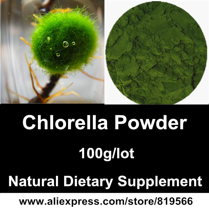 Pure Chlorella Vulgaris Extract Powder Natural Broken Cell-Wall Organic Chlorella Source Dietary Supplements<br><br>Aliexpress