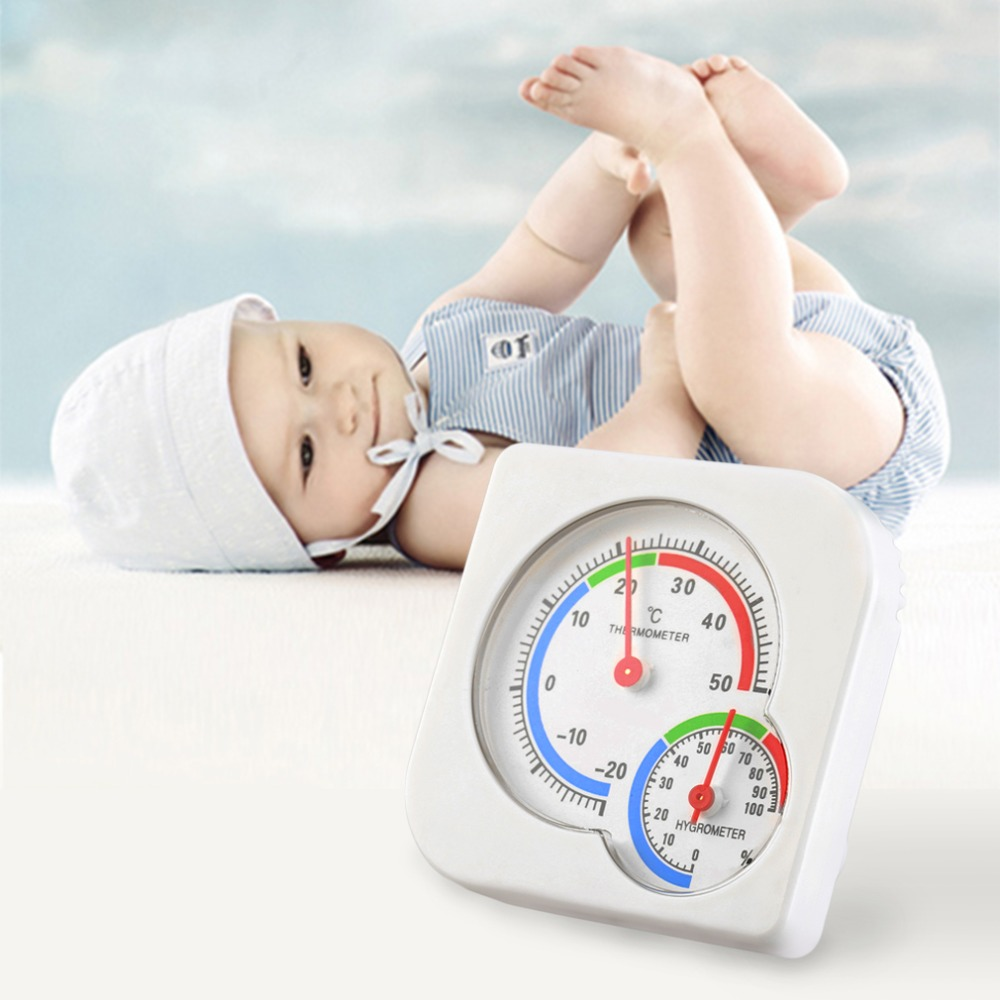 New Useful Nursery Baby House Room Mini Thermometer Wet Hygrometer Temperature Meter Worldwide Store(China (Mainland))