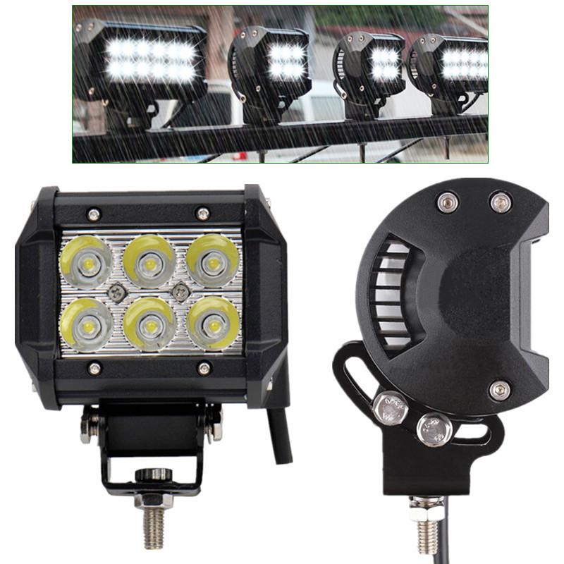 Led Spotlight Truck: 2X 18W 4inch CREE Spot LED Work Light Bumper 4x4 Offroad