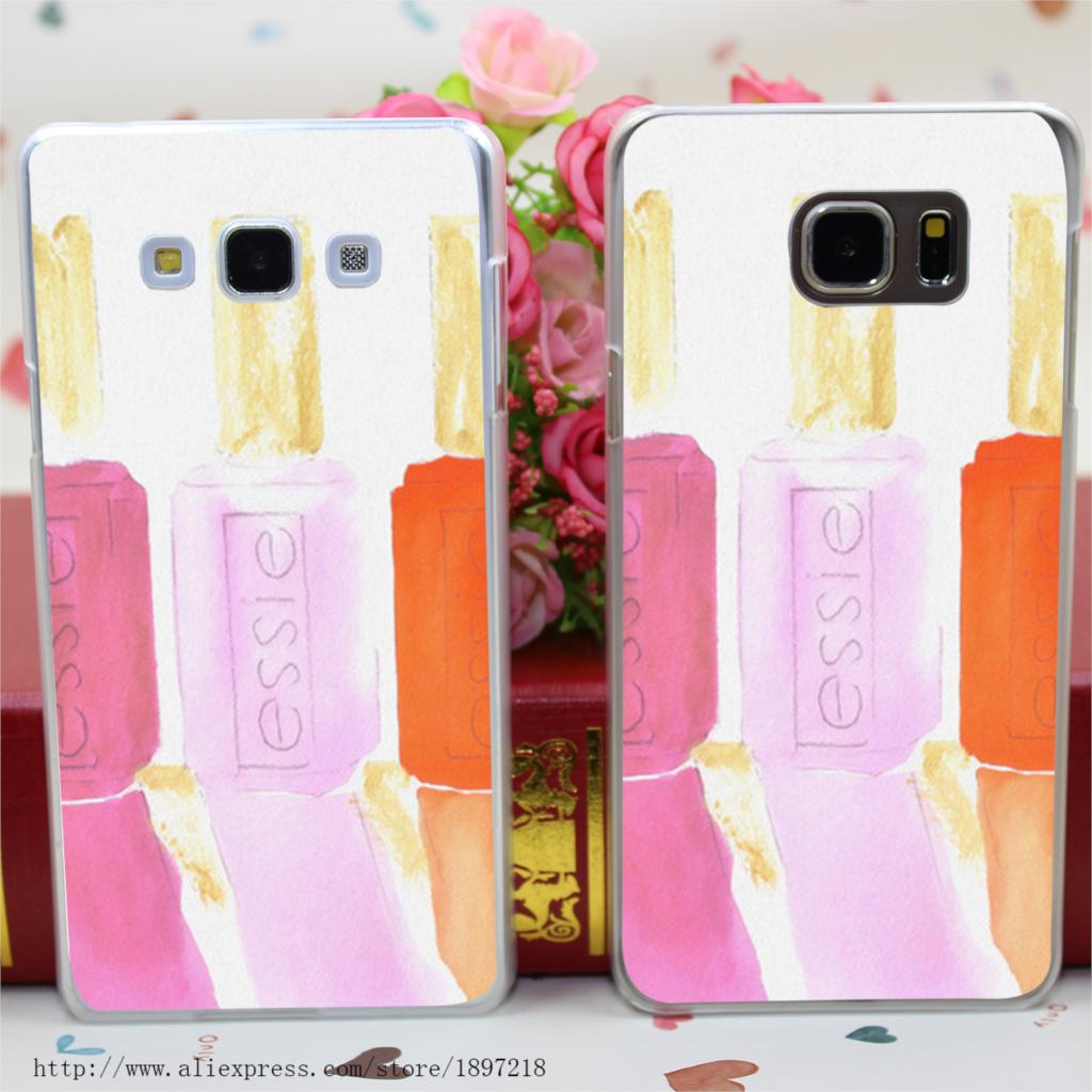 1048wu Essie In Pink Style Transparent Hard Case Cover for Samsung Note 2 3 4 5 for Galaxy A3 A5 A7 A8 series(China (Mainland))