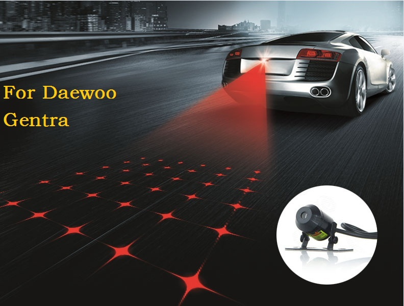 Car Cool Pattern Anti-Collision End Rear Tail Fog Driving Laser Caution Light For Daewoo Gentra(China (Mainland))