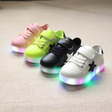 2017 новый горячий все сезоны унисекс моды пентакль Красочный СВЕТОДИОДНЫЕ СВЕТОДИОДНОЙ вспышкой дети дети повседневная обувь дети кроссовки огни обувь fo(China (Mainland))