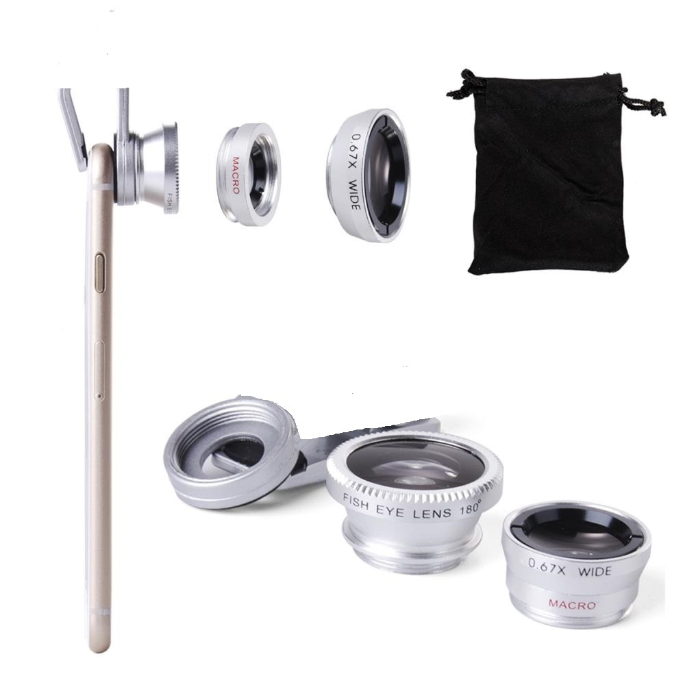 3in1 wide angle macro fisheye Selfie Camera Mobile Cell Phone Lens For iPhone Galaxy S3 S4 S5 S6 DC264S
