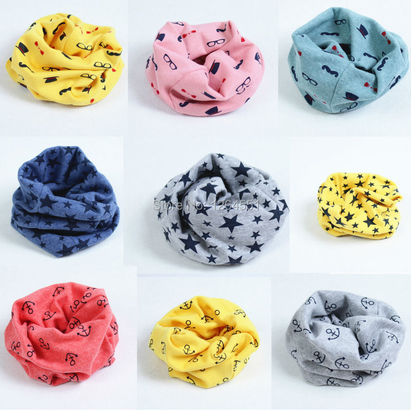 Free shipping 2015 new autumn Winter Chirldren collar Baby scarf cotton Boys and girls Kids O ring child neck Scarves HW002(China (Mainland))