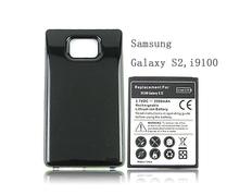 Бесплатная доставка для Samsung Galaxy S2 SII i9100 аккумулятор телефон замена расширенный толще 3500 мАч батарея с задней стороны обложки черный