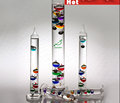 9Pig 29cm Height Colorful 5 Inner Balls Galileo Thermometer Glass Tube Weather Forecast Office Home Decor