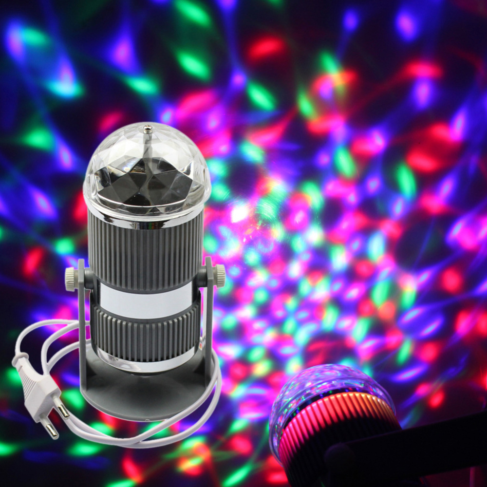 MIYOLE LED full color stage light 3W Crystal Rotating RGB Stage Light for Disco party club bar DJ Free Shipping(China (Mainland))