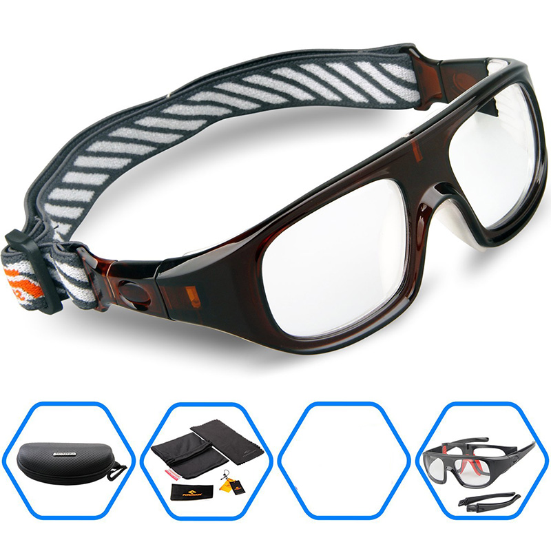 2016 Brand Protective Sports Eyewear Goggles Basketball Soccer Football Ruby Safety Glasses Myopia lense Eyeglasses - Philizze Store store