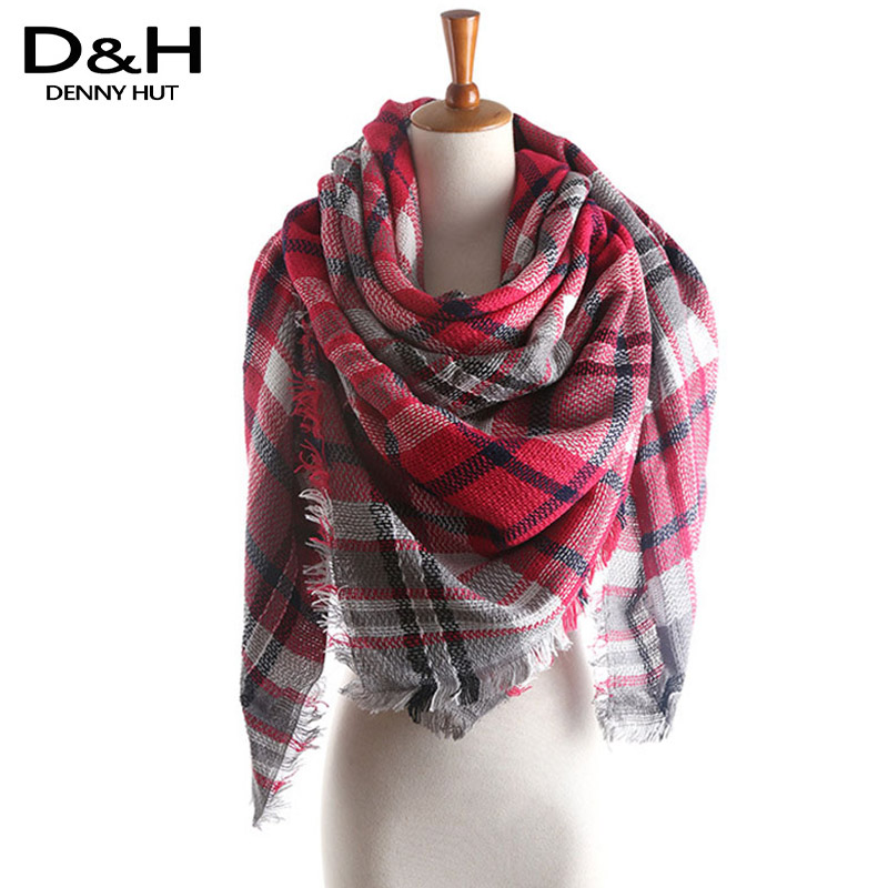 winter 2016 scarf desigual plaid scarf