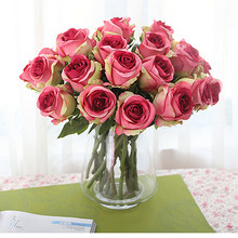 12pcs/lot,Thai Royal Rose upscale artificial flowers silk flower roses home decoration flowers--no vase(China (Mainland))