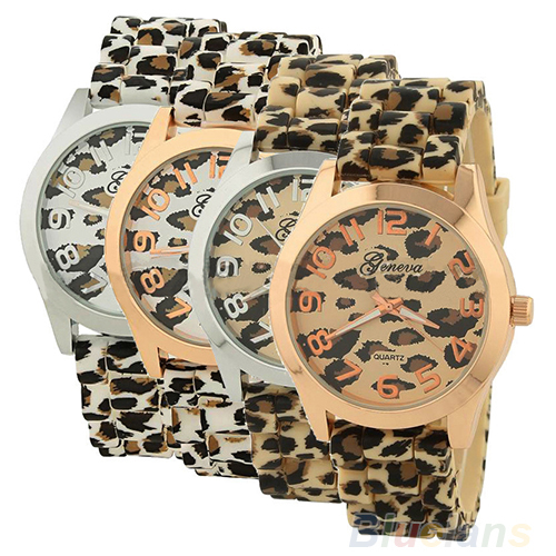 Sale Casual Sexy Women Girls Ladies Geneva Leopard Jelly Silicone Quartz Wrist Watch Watches For Christmas gift<br><br>Aliexpress