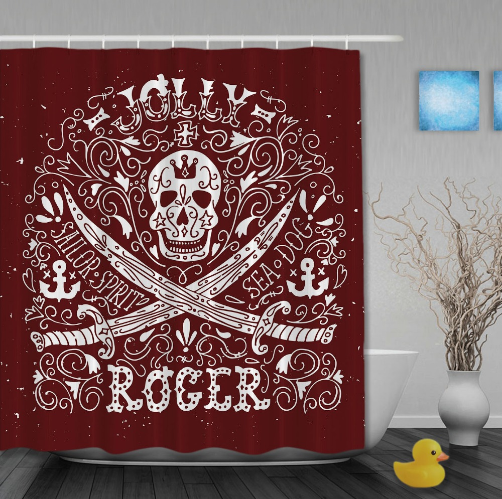 Jolly roger shower curtain -