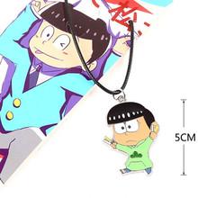 [PCMOS] Six Same Faces Konya wa Saikou Mr.Osomatsu Matsuno Choromatsu Necklace Cosplay Anime Figure Character Pendant 16041210