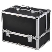2016 PROFESSIONLA Large Space Storage case Beauty Box Make up Jewelry Vanity Cosmetic Boxes(China (Mainland))