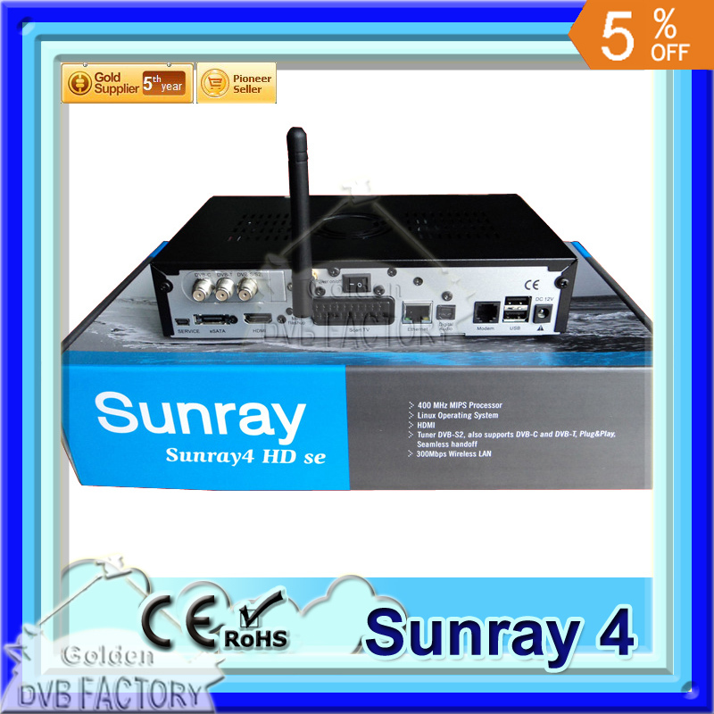 Sunray 800 Se SR4 dvb800hd SE Triple Tuner Wifi Internal SIM2.10 Sunray4 HD se Satellite Receiver Wholesale (1pc SR4) free DHL(China (Mainland))