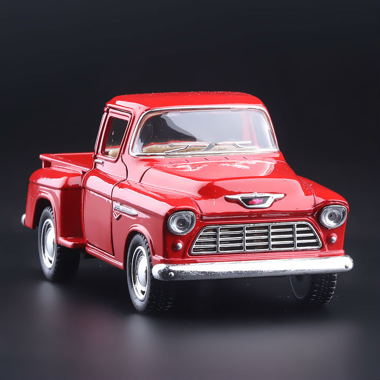 High Simulation Exquisite Collection Toys: KiNSMART Car Styling 1955 Chevrolet Stepside Pickup 1:36 Alloy Car Model Best Gifts(China (Mainland))