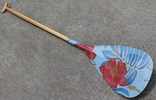 Z&J SPORT Hybrid Outrigger Canoe OC Paddle With Carbon Hawaii Type Graphics Design Blade and Handcrafted Wooden Bent Oval Shaft(China (Mainland))