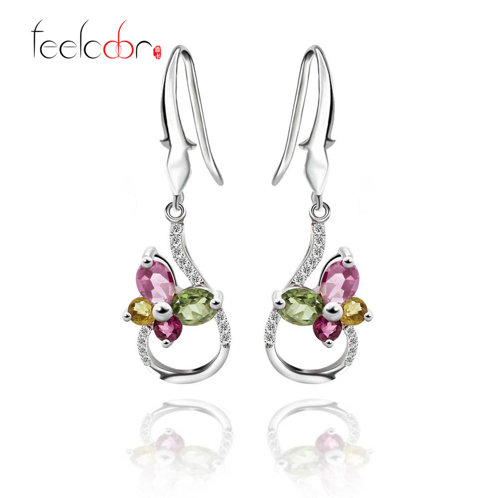 100% Natural Garnet Drop Earrings Gemstone Jewelry Real Pure Authentic 925 Solid Sterling Silver 2015 Brand New Gift For Women<br><br>Aliexpress