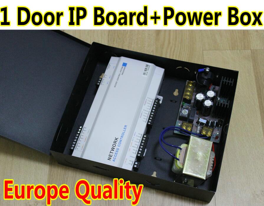 1 Door IP Board+Power Supply One door Controller Panel Box + UPS Power Web IP Control +TCP/IP+Card Wiegand26/34 Reader+SDK+SW(China (Mainland))