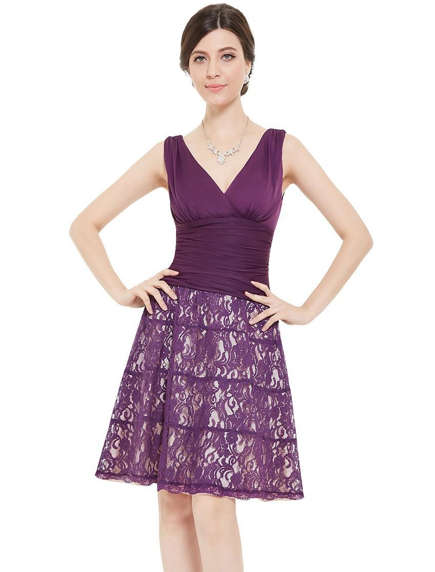 Короткие свободного покроя платья HE03859BL женщина без рукавов двойной V - образным вырезом Кружевоy нижней 2015 платье свободного покроя бесплатная доставка