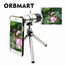 Buy ORBMART Aluminum 12X Optical Zoom Telescope Camera Lens iPhone 6 6s 6 Plus 6s Plus Protective Back Case for $18.13 in AliExpress store