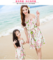 Mom and daughter dress matching mother daughter clothes family look girl and mother dress Floral Chiffon