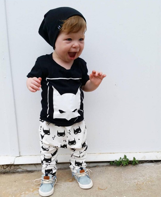 Summer style baby Boy/Girl clothes cotton short sleeved t-shirt + pants