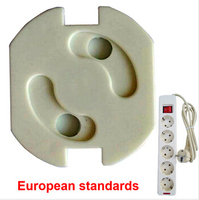 Socket Protection Electric Shock Hole Children Care Baby Safety Electrical Security Plastic Safe Lock Cover ES88