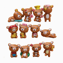 Japanse Anime RilakkumaToy Figure 12pcs/Set Lovely Mini Resin Action Figures Kids Toys High Quality Christmas Gift
