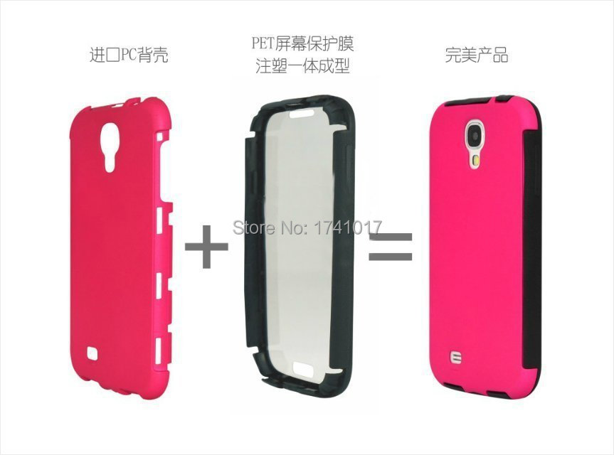 New fashion cover Armor outdoor brand Casefor Samaung S4 i9500 Hard Mobile Phone Cover Bags Pc+silicone back cover case cheap(China (Mainland))